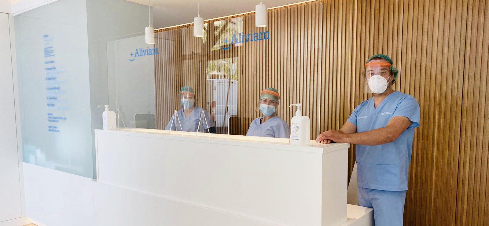 Aliviam toma medidas para reducir el riesgo de contagio por Covid19 de sus pacientes